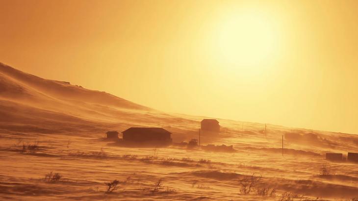 Земля-пустыня после атаки инопланетян.
